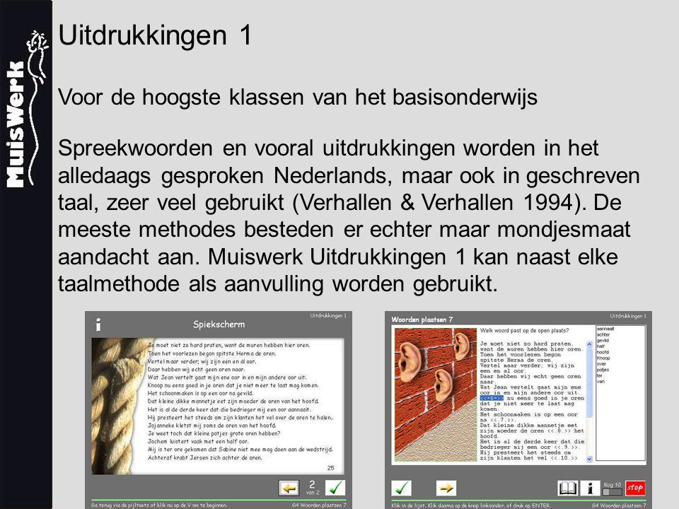 Uitdrukkingen 1 Voor de hoogste klassen van het basisonderwijs Spreekwoorden en vooral uitdrukkingen worden in het alledaags gesproken Nederlands, maar ook in geschreven taal, zeer veel gebruikt (Verhallen & Verhallen 1994).