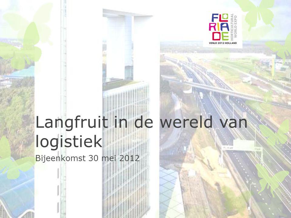 Langfruit in de wereld van logistiek Bijeenkomst 30 mei 2012