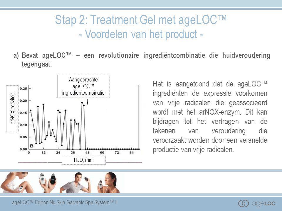 ageLOC™ Edition Nu Skin Galvanic Spa System™ II Het is aangetoond dat de ageLOC™ ingrediënten de expressie voorkomen van vrije radicalen die geassocie