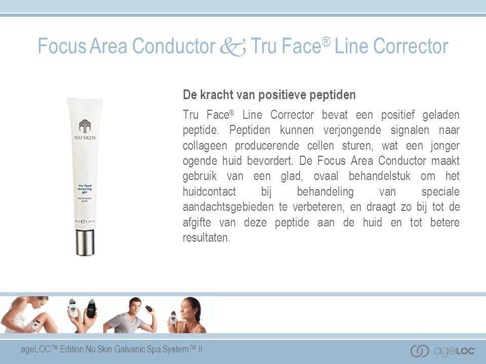 ageLOC™ Edition Nu Skin Galvanic Spa System™ II Focus Area Conductor  Tru Face ® Line Corrector De kracht van positieve peptiden Tru Face ® Line Corr