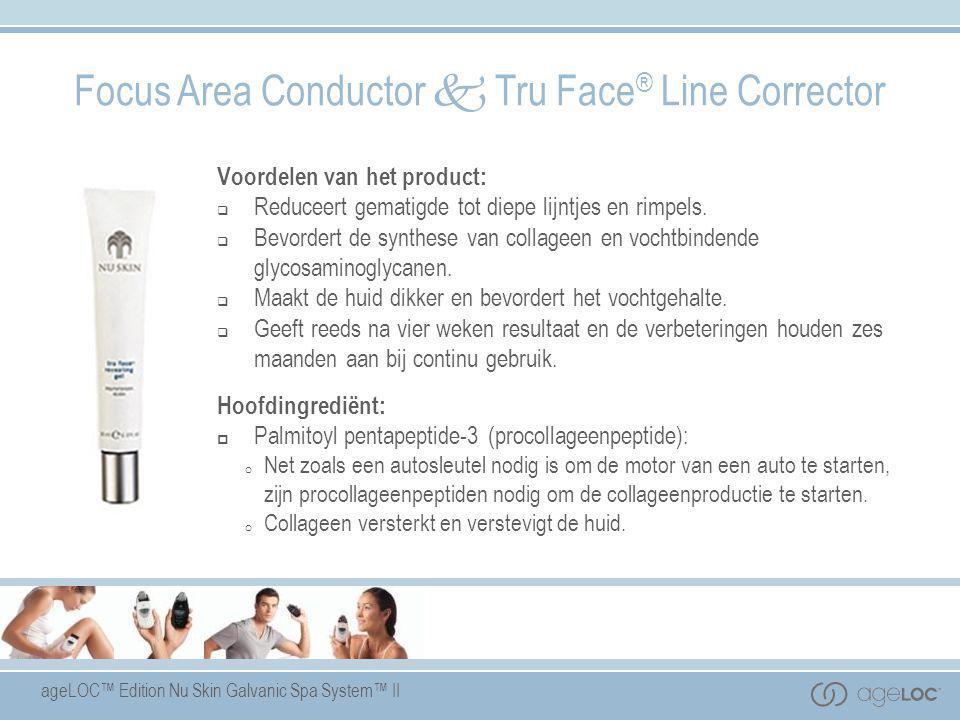ageLOC™ Edition Nu Skin Galvanic Spa System™ II Voordelen van het product:  Reduceert gematigde tot diepe lijntjes en rimpels.  Bevordert de synthes