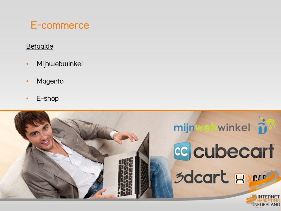 Betaalde • Mijnwebwinkel • Magento • E-shop E-commerce