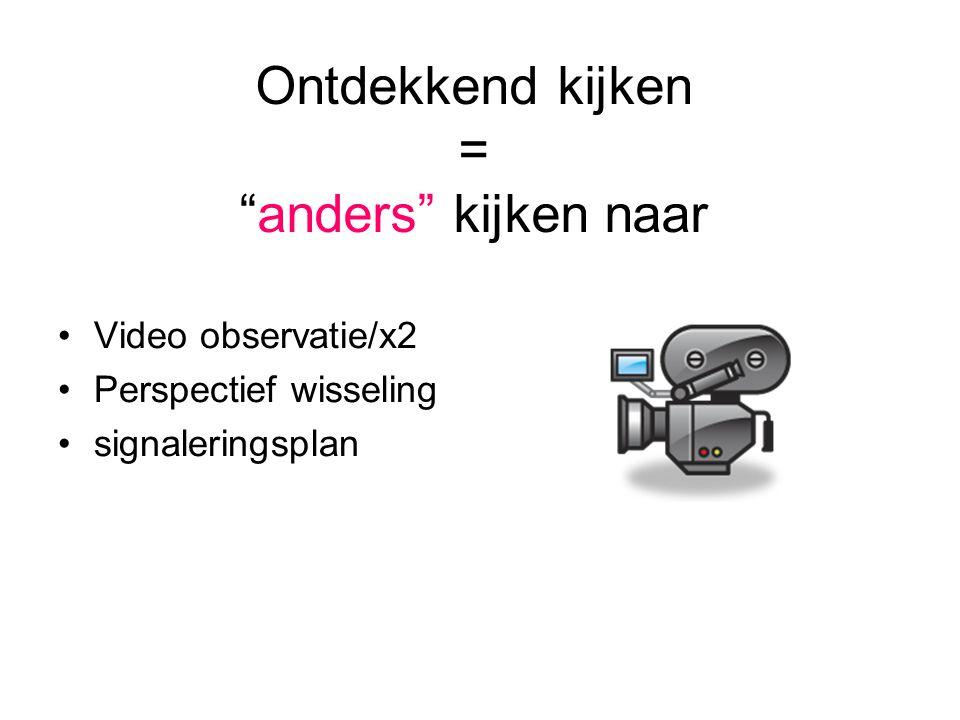 Video training •De relatie van de individuele begeleider met de cliënt als uitgangspunt.