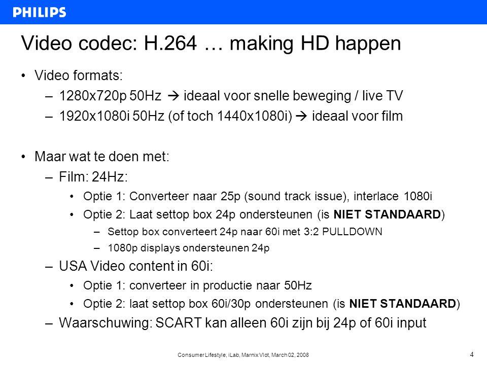 Consumer Lifestyle, iLab, Marnix Vlot, March 02, 2008 15 HD voor de Consument •Bij veel consumenten is verwarring: –Wat is HD uberhaupt.