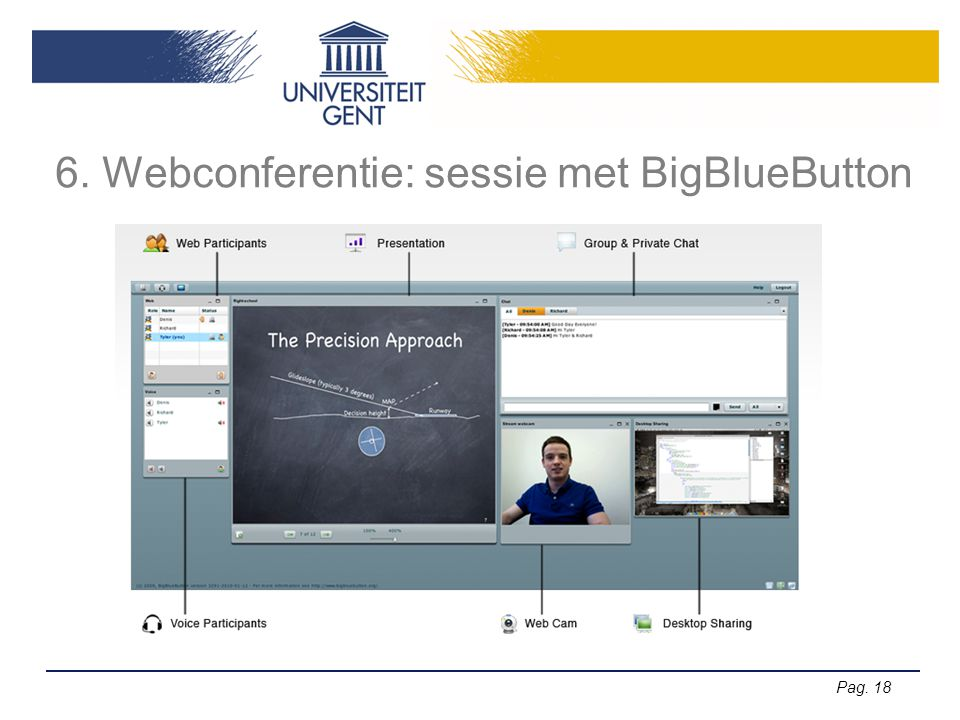Pag. 18 6. Webconferentie: sessie met BigBlueButton