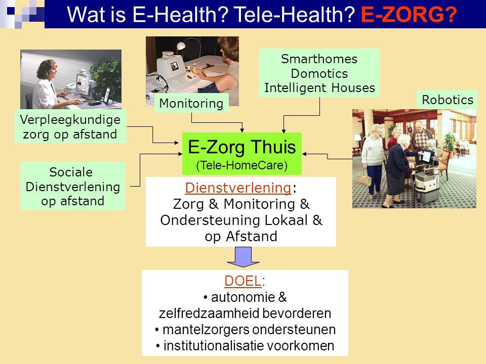 Resultaten E-Zorg Projecten Ouderen Dr.
