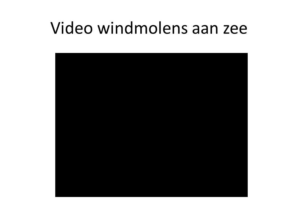 Video windmolens aan zee