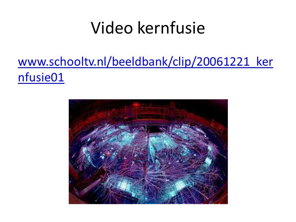 Video kernfusie www.schooltv.nl/beeldbank/clip/20061221_ker nfusie01