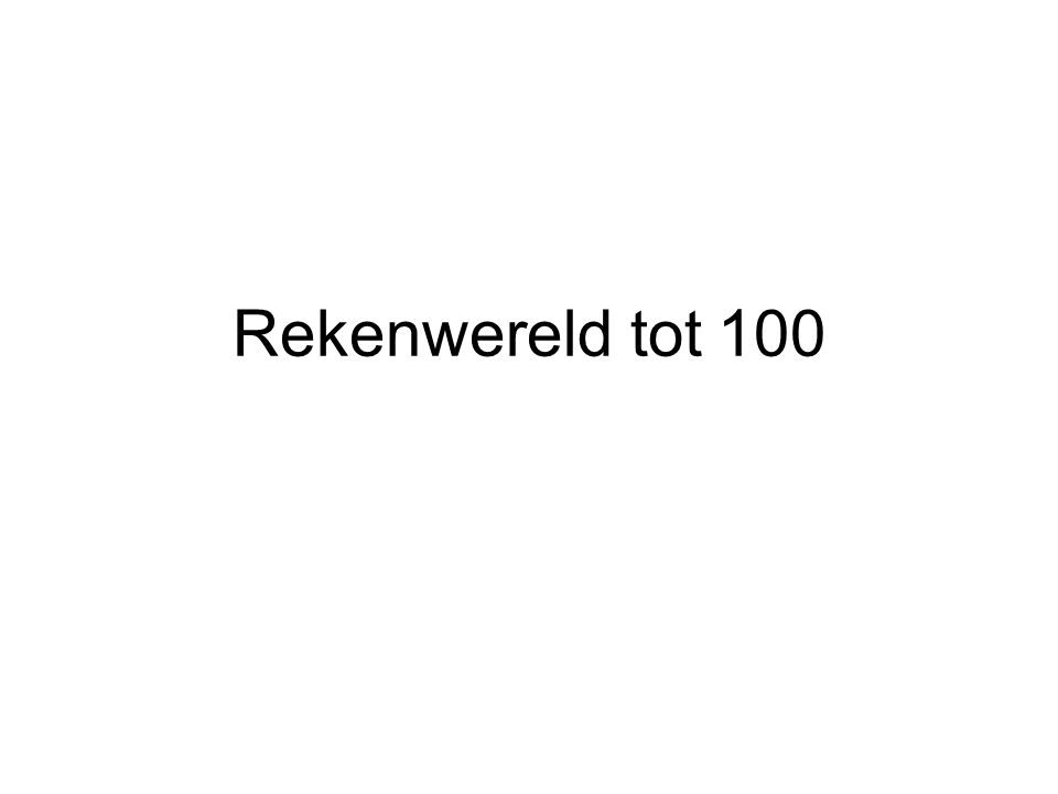 Rekenwereld tot 100