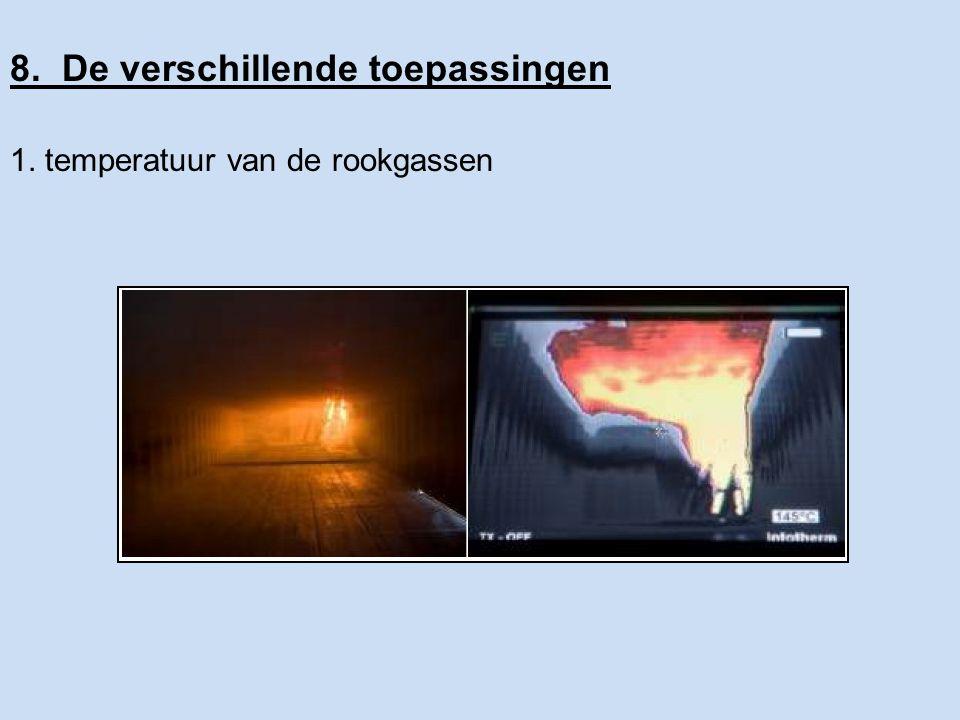 8. De verschillende toepassingen 2. opsporen van de brandhaard 3. buitenverkenning
