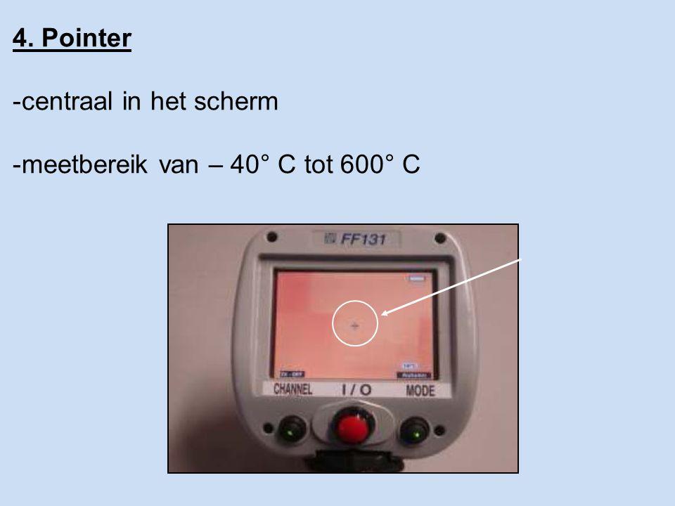 4. Pointer -centraal in het scherm -meetbereik van – 40° C tot 600° C
