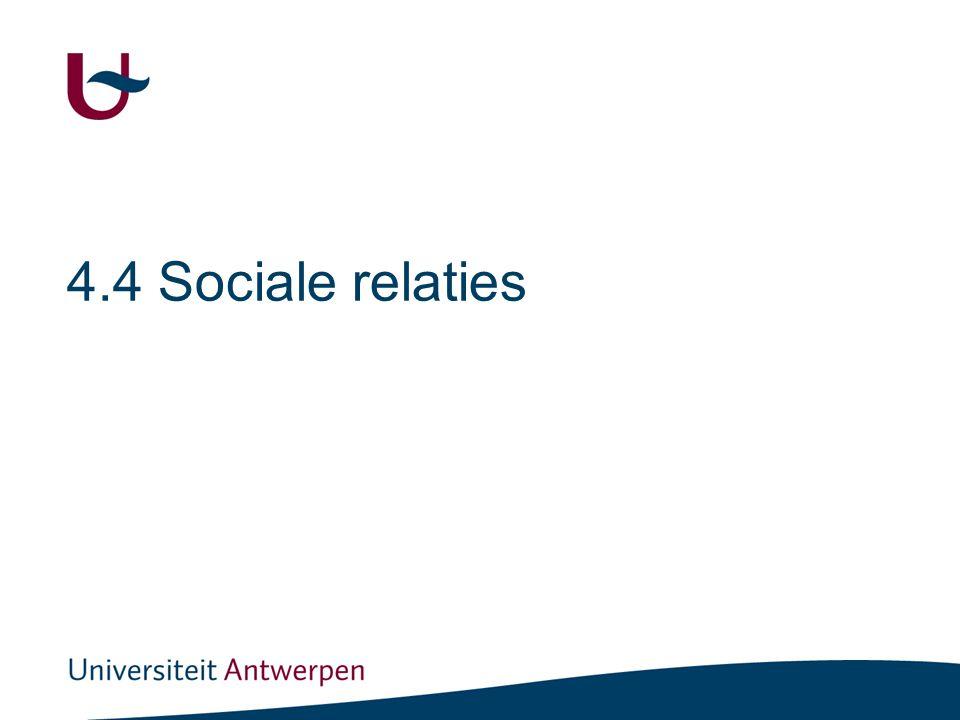 4.4 Sociale relaties
