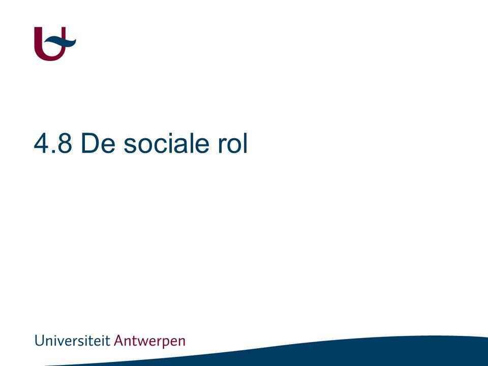 4.8 De sociale rol