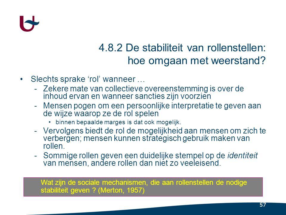 57 4.8.2 De stabiliteit van rollenstellen: hoe omgaan met weerstand.