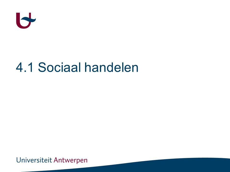 4.1 Sociaal handelen