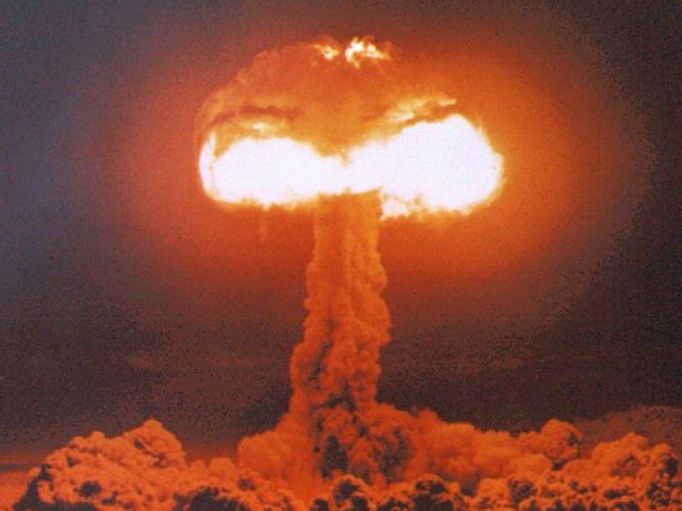 De kracht van het atoom  Een atoom bevat enorme krachten