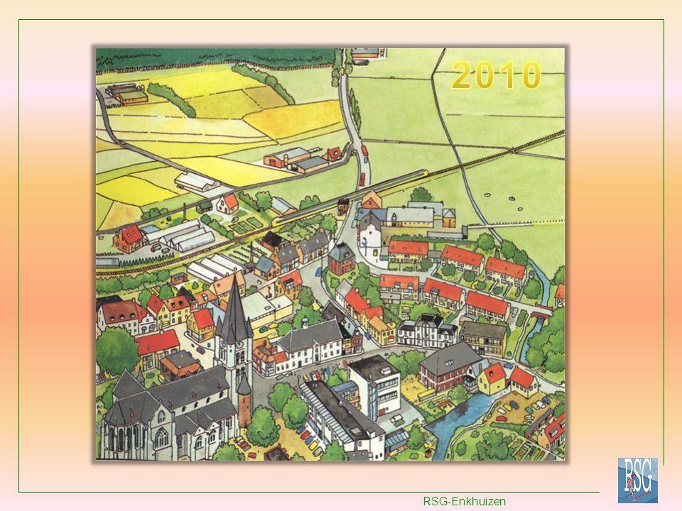 Conclusies bij de vier afbeeldingen van een dorp: Sommige dingen veranderen (discontinuïteit) terwijl andere blijven bestaan (continuïteit).