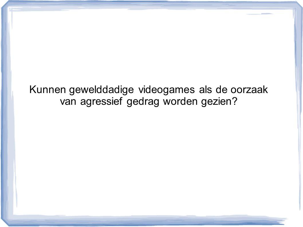 Kunnen gewelddadige videogames als de oorzaak van agressief gedrag worden gezien?