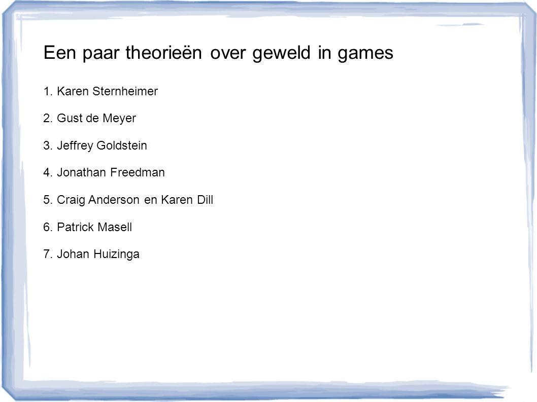 1.Karen Sternheimer: Do videogames kill.
