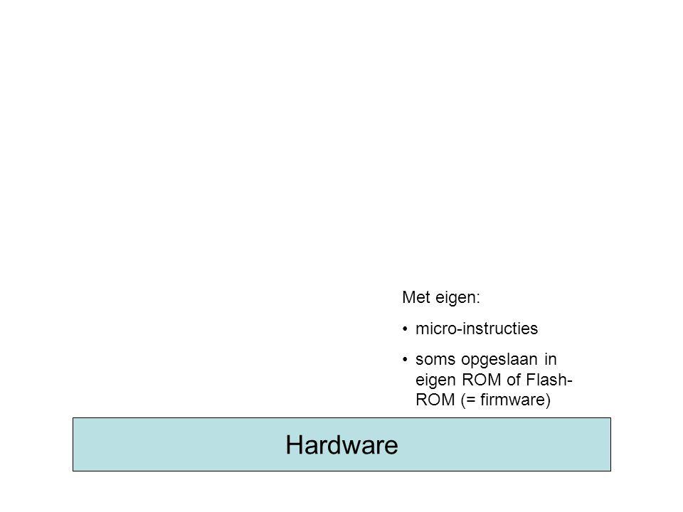 BIOS Met •Basic Input & Output Routines •opgeslaan in Flash ROM (EEPROM) •met o.a.