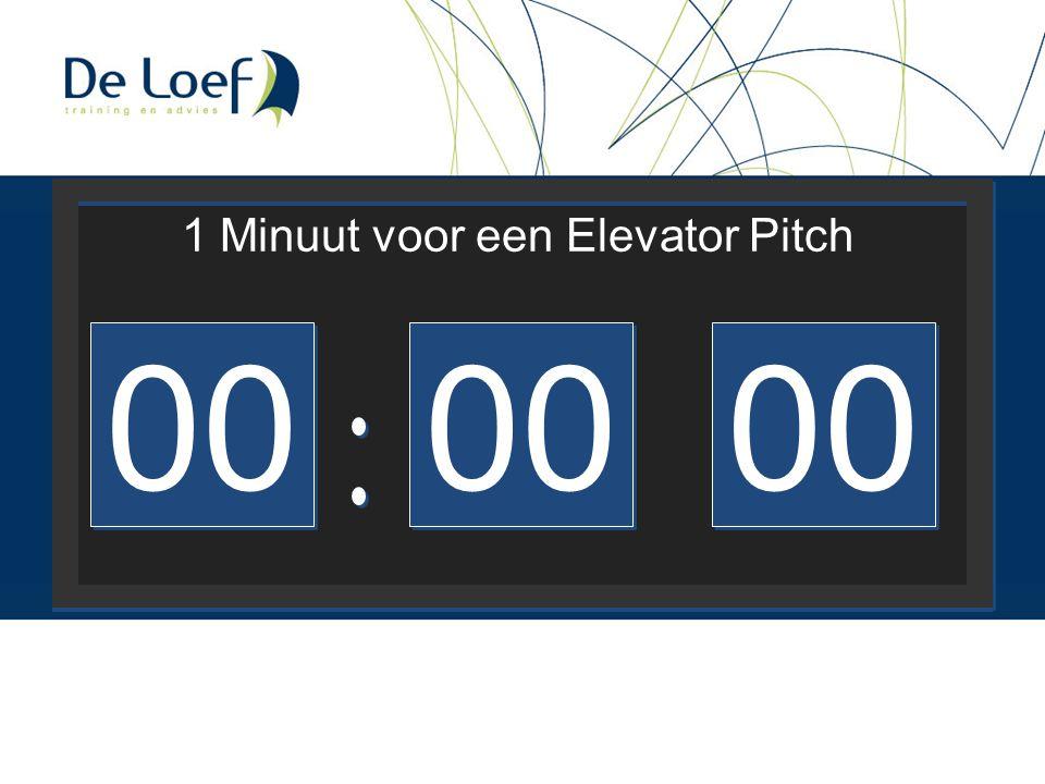 00 1 Minuut voor een Elevator Pitch