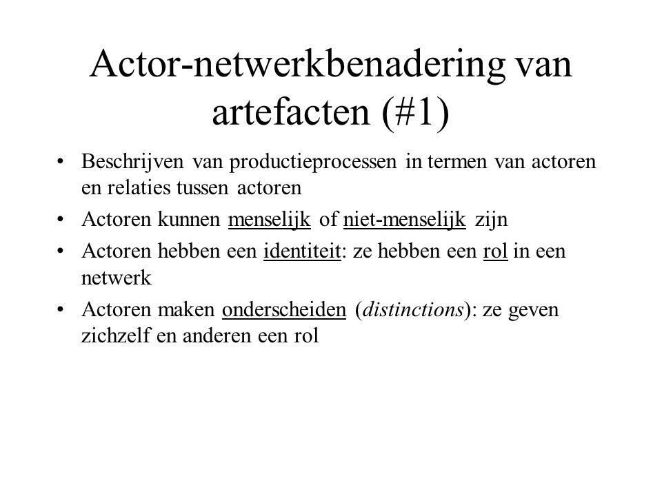 Actor-netwerkbenadering van artefacten (#2) •Ene actor kan arbeid aan andere actor delegeren.