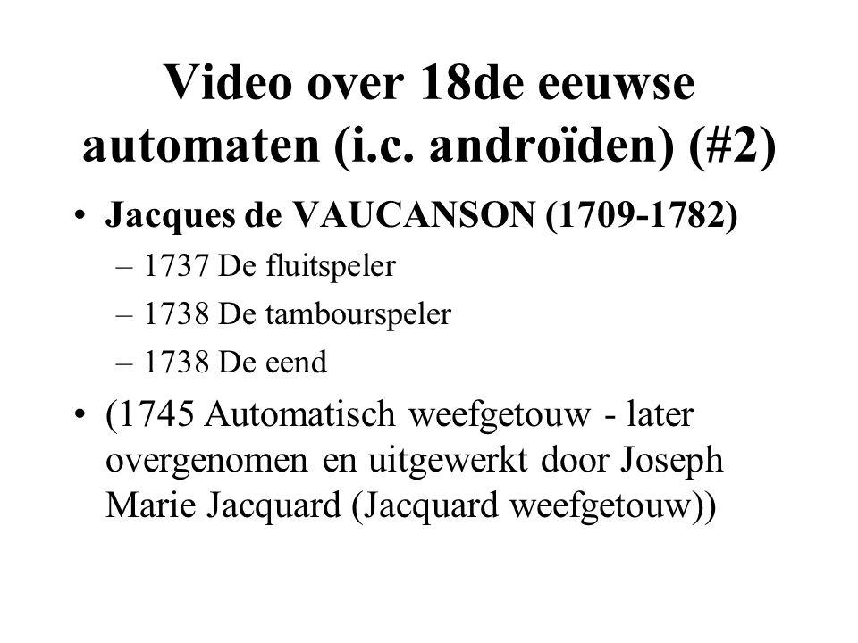 Video over 18de eeuwse automaten (i.c.