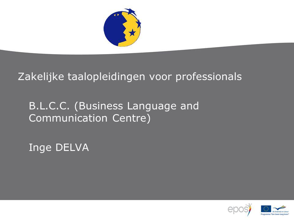 Zakelijke taalopleidingen voor professionals B.L.C.C.