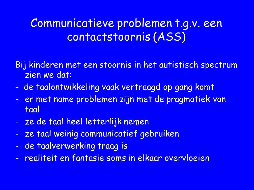 Communicatieve problemen t.g.v.