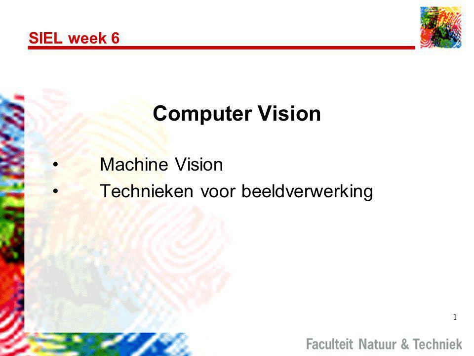 1 SIEL week 6 Computer Vision •Machine Vision •Technieken voor beeldverwerking