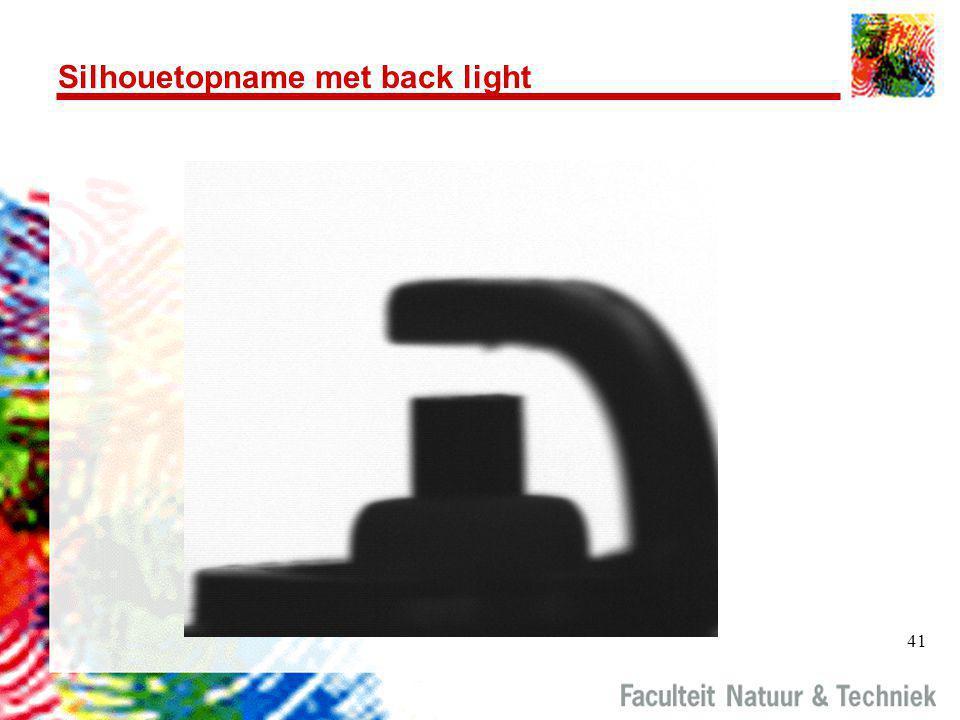 41 Silhouetopname met back light