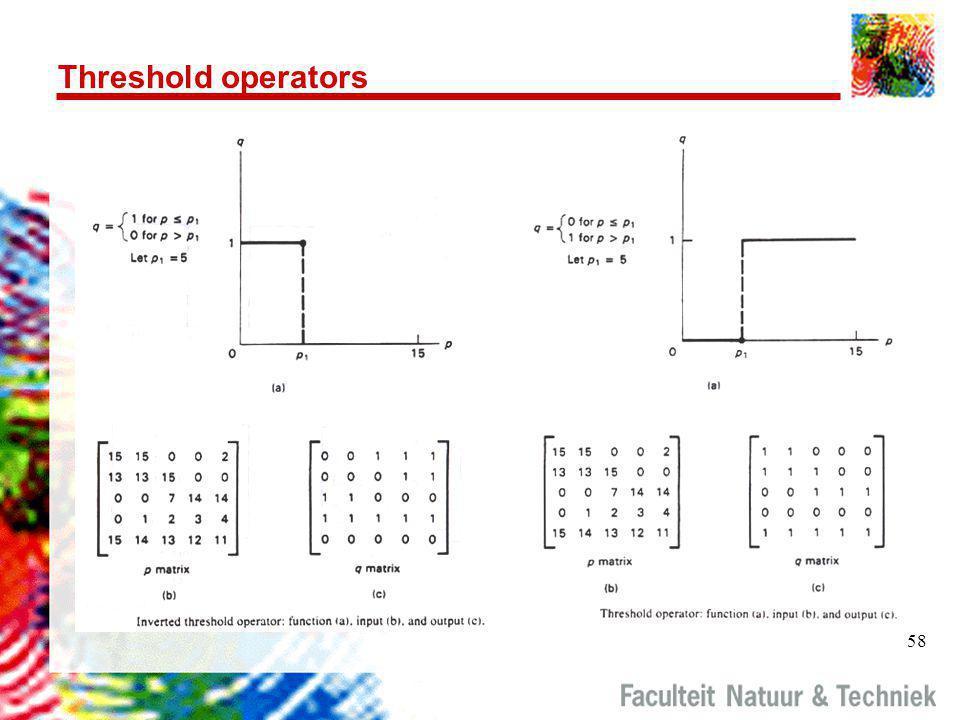 58 Threshold operators