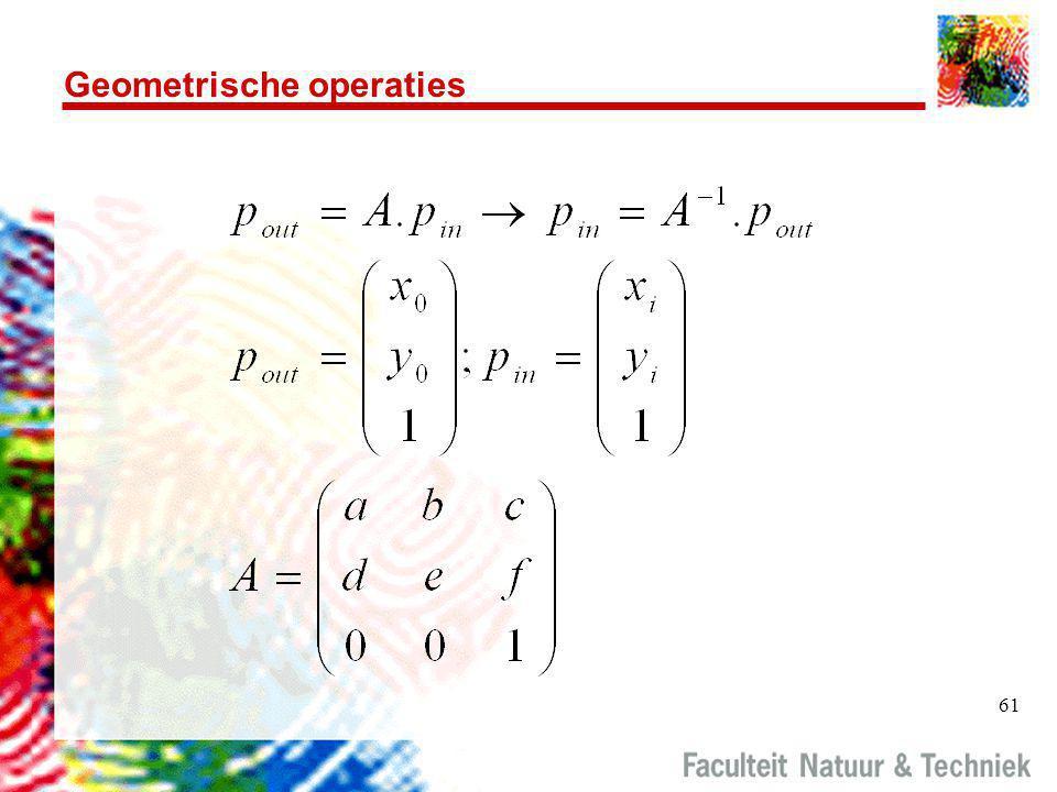 61 Geometrische operaties