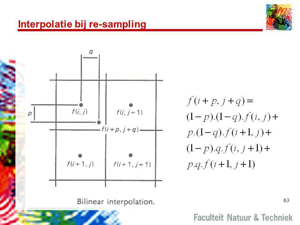 63 Interpolatie bij re-sampling