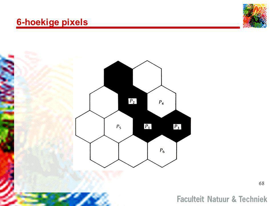 68 6-hoekige pixels