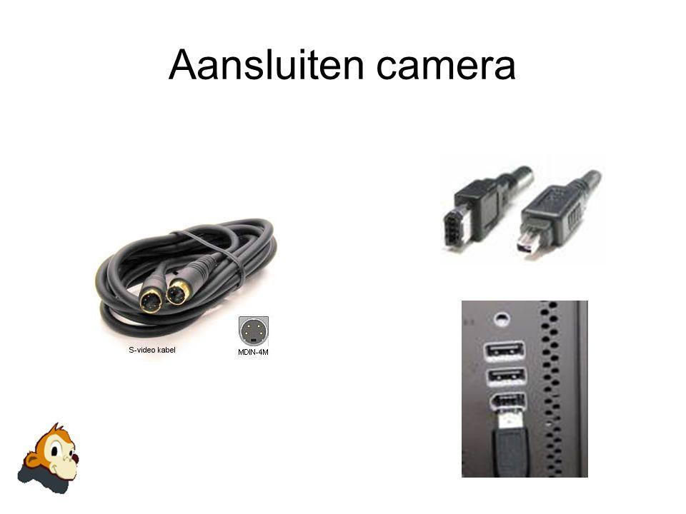 Aansluiten camera