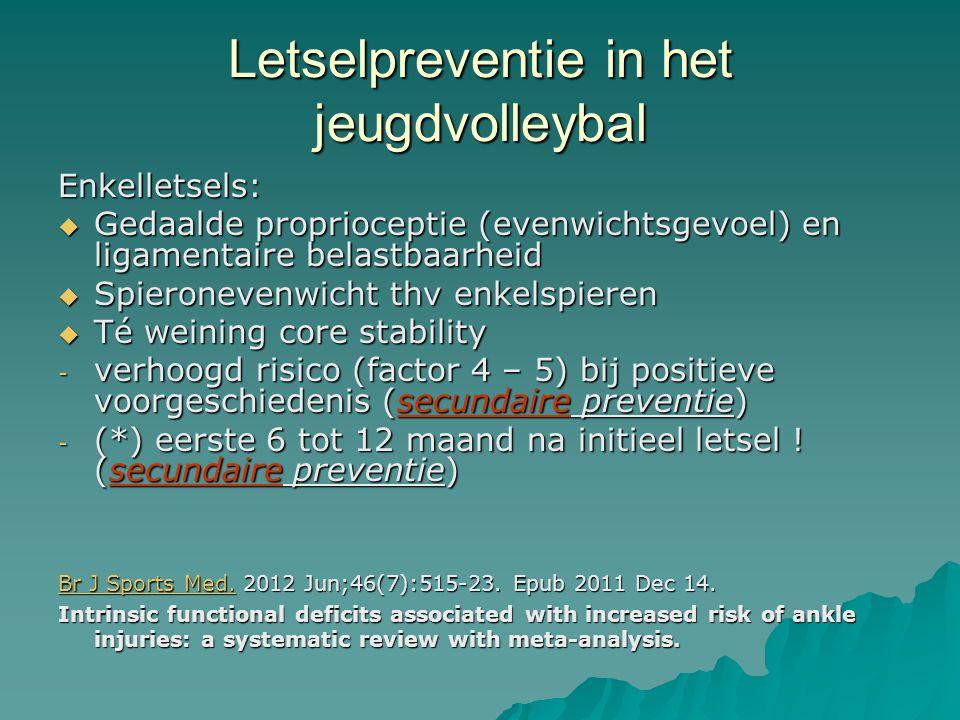 Enkelletsels:  Gedaalde proprioceptie (evenwichtsgevoel) en ligamentaire belastbaarheid  Spieronevenwicht thv enkelspieren  Té weining core stabili