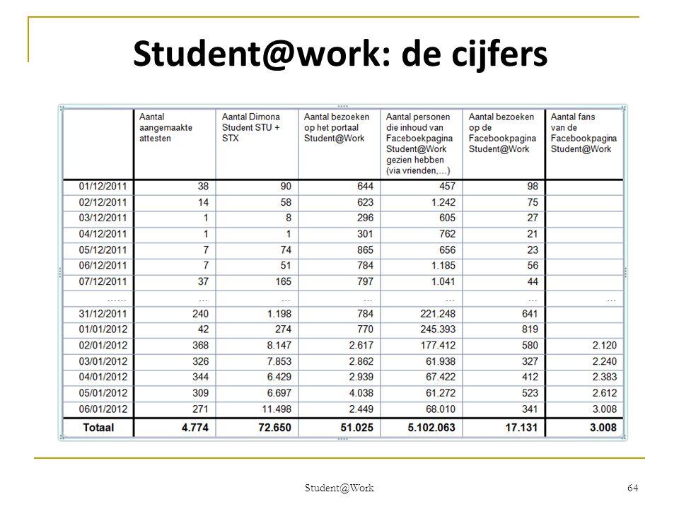 Student@Work 64 Student@work: de cijfers