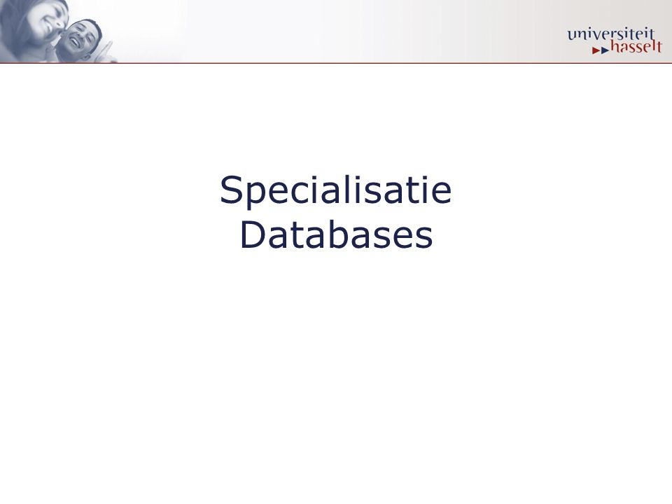 Specialisatie Databases