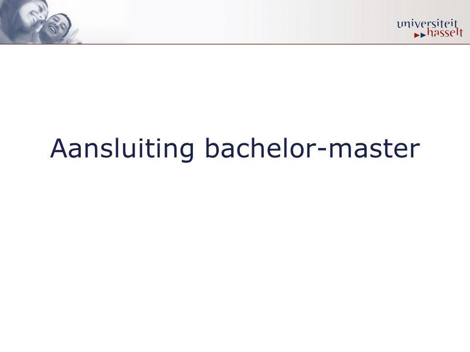 Aansluiting bachelor-master