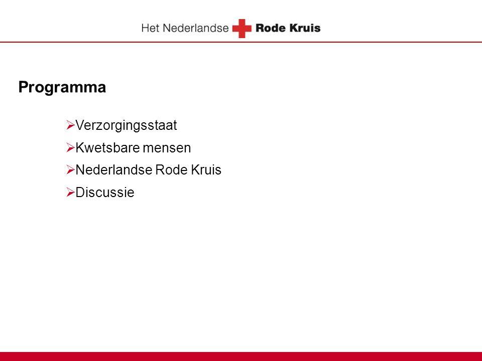 Programma  Verzorgingsstaat  Kwetsbare mensen  Nederlandse Rode Kruis  Discussie