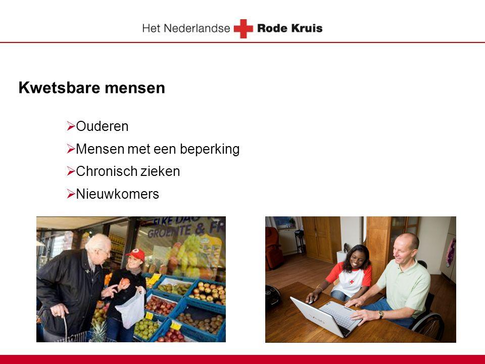 Kwetsbare mensen  Ouderen  Mensen met een beperking  Chronisch zieken  Nieuwkomers