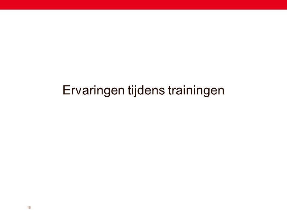 16 Ervaringen tijdens trainingen
