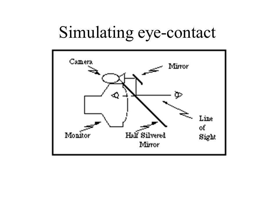 Simulating eye-contact