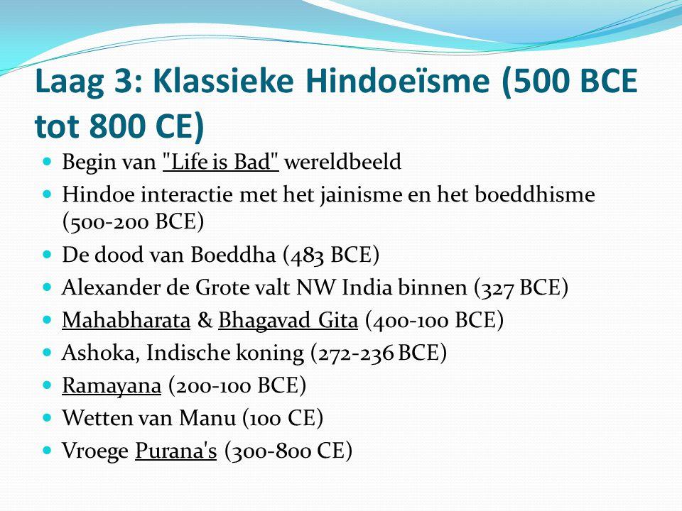 Laag 3: Klassieke Hindoeïsme (500 BCE tot 800 CE)  Begin van