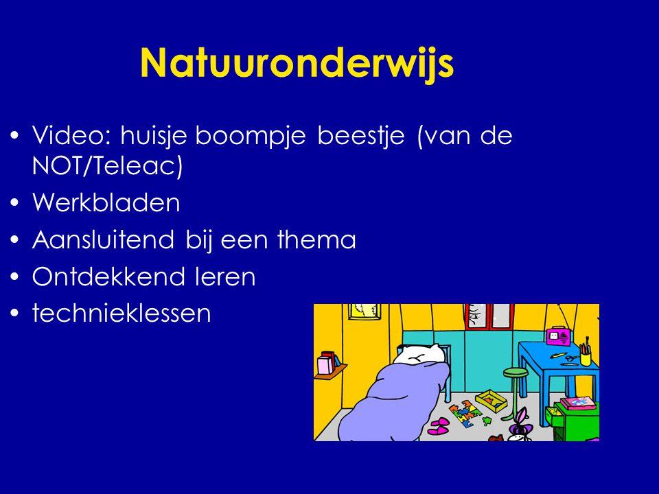 Natuuronderwijs •Video: huisje boompje beestje (van de NOT/Teleac) •Werkbladen •Aansluitend bij een thema •Ontdekkend leren •technieklessen