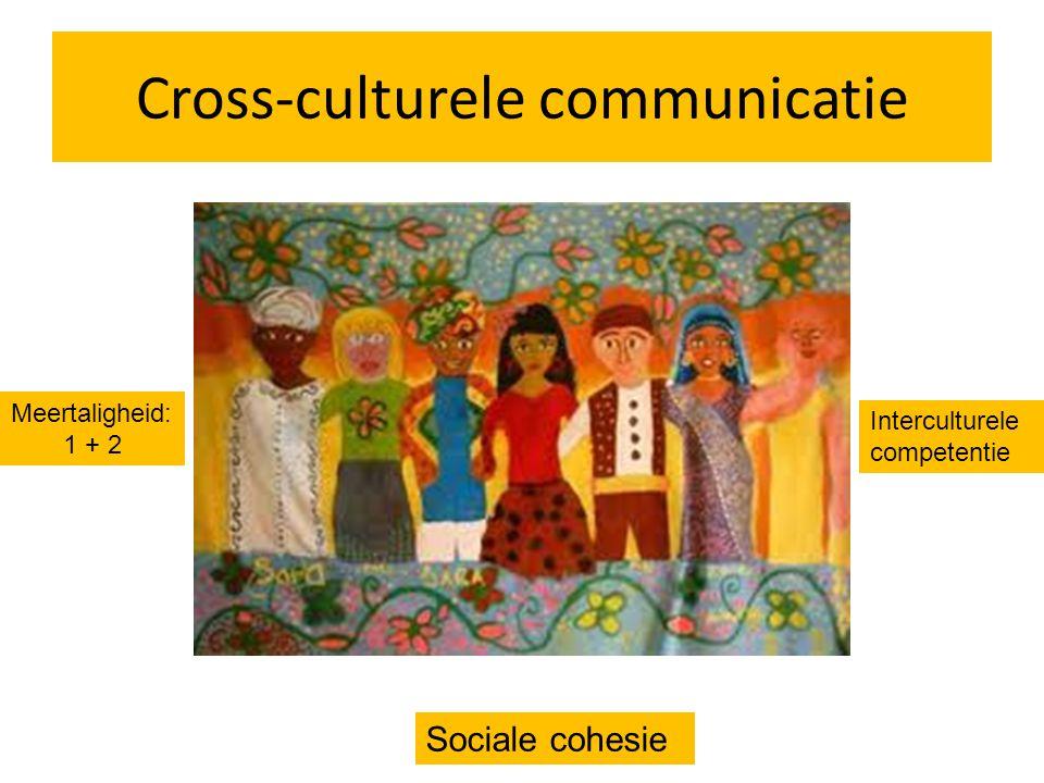 Cross-culturele communicatie Meertaligheid: 1 + 2 Interculturele competentie Sociale cohesie