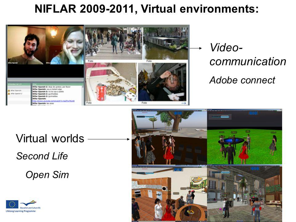 Second Life Open Sim Video- communication Adobe connect Virtual worlds NIFLAR 2009-2011, Virtual environments: