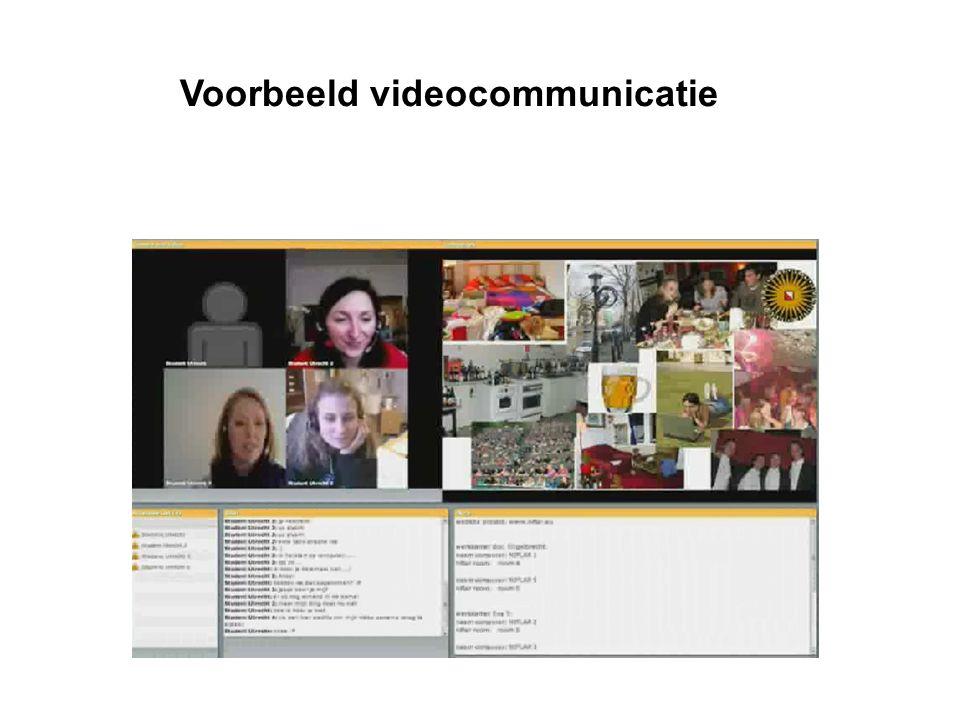 Voorbeeld videocommunicatie