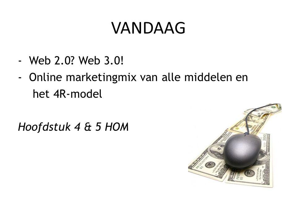-Web 2.0? Web 3.0! -Online marketingmix van alle middelen en het 4R-model Hoofdstuk 4 & 5 HOM VANDAAG